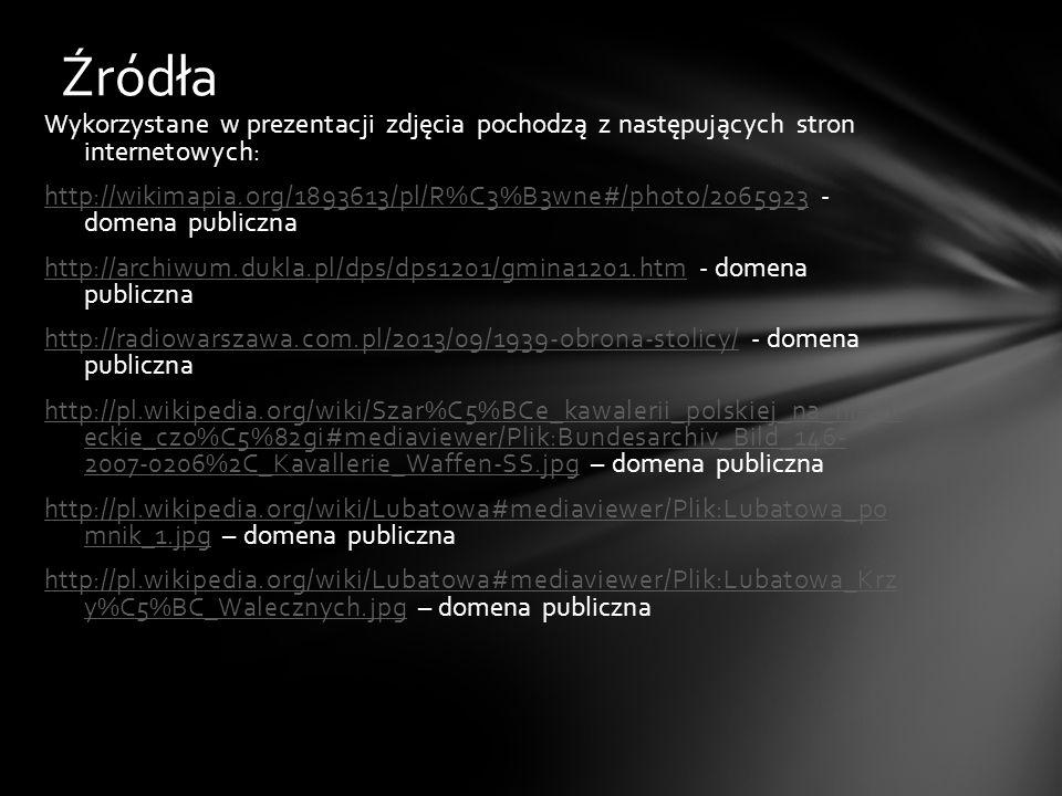Wykorzystane w prezentacji zdjęcia pochodzą z następujących stron internetowych: http://wikimapia.org/1893613/pl/R%C3%B3wne#/photo/2065923http://wikim