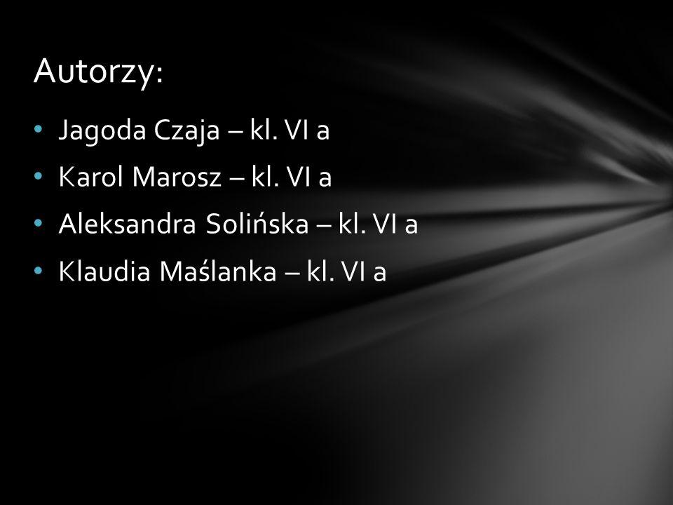 Jagoda Czaja – kl. VI a Karol Marosz – kl. VI a Aleksandra Solińska – kl. VI a Klaudia Maślanka – kl. VI a Autorzy: