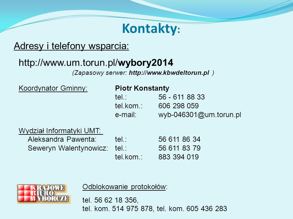 Odblokowanie protokołów: tel.56 62 18 356, tel. kom.