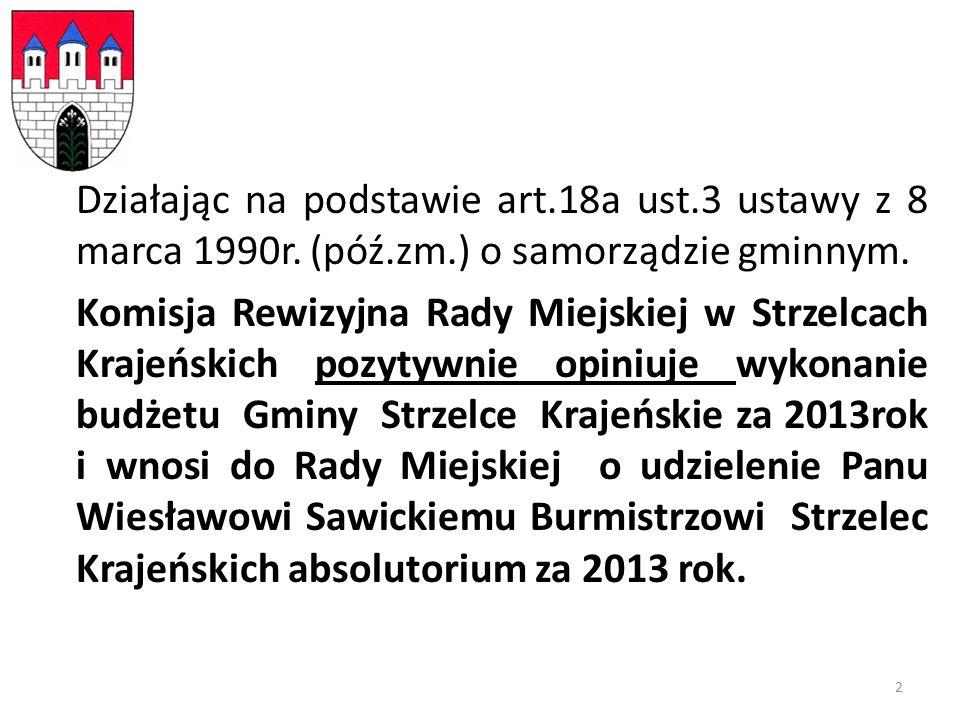 Działając na podstawie art.18a ust.3 ustawy z 8 marca 1990r.