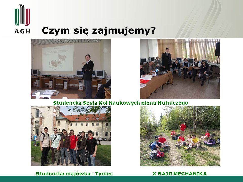 Osiągnięcia i ważniejsze wydarzenia Udział członków koła naukowego w pracach Katedry Mechaniki i Wibroakustyki m.in.
