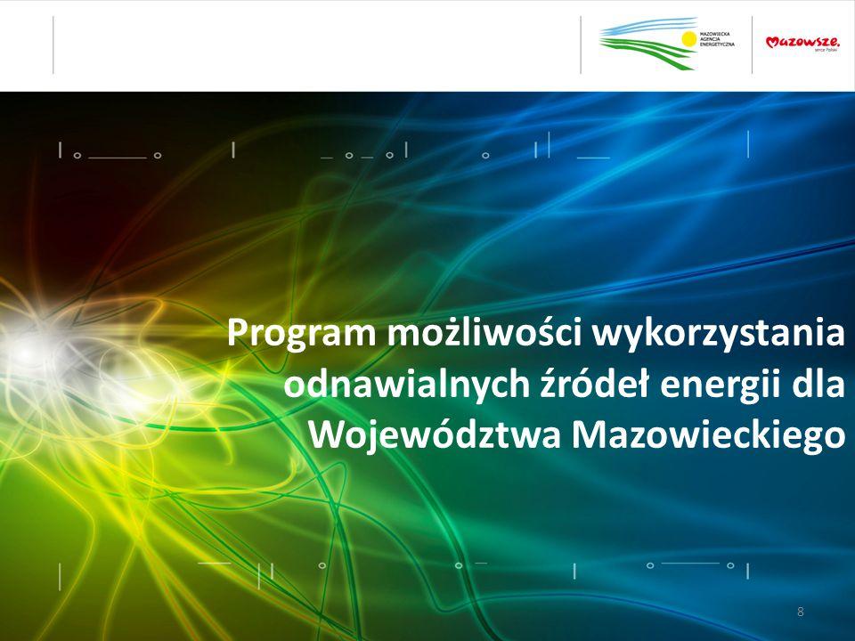 Program możliwości wykorzystania odnawialnych źródeł energii dla Województwa Mazowieckiego 8