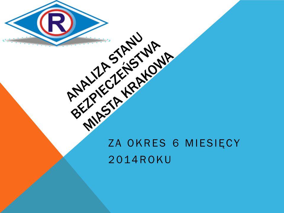 ANALIZA STANU BEZPIECZEŃSTWA MIASTA KRAKOWA ZA OKRES 6 MIESIĘCY 2014ROKU