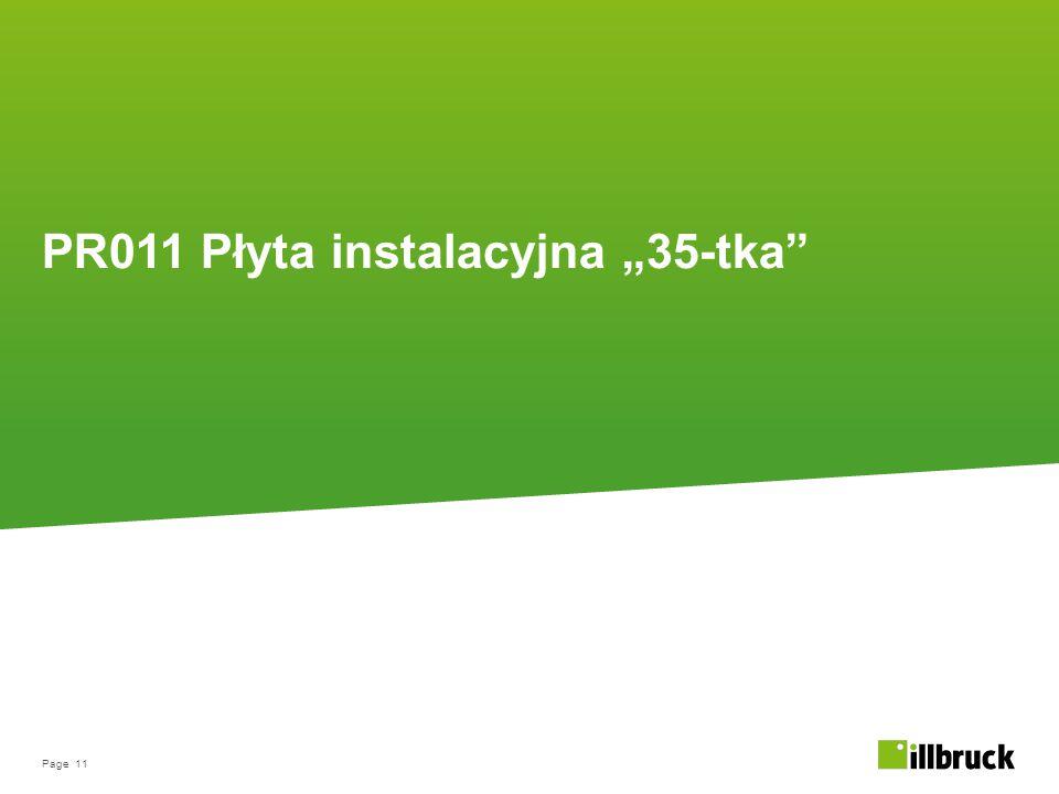 """Page 11 PR011 Płyta instalacyjna """"35-tka"""""""