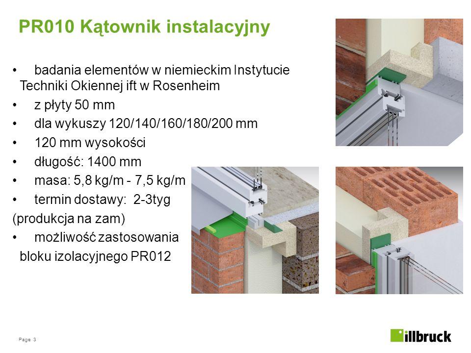 Page 3 badania elementów w niemieckim Instytucie Techniki Okiennej ift w Rosenheim z płyty 50 mm dla wykuszy 120/140/160/180/200 mm 120 mm wysokości d