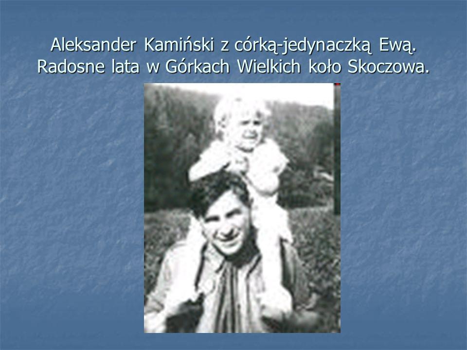 Aleksander Kamiński z córką-jedynaczką Ewą. Radosne lata w Górkach Wielkich koło Skoczowa.
