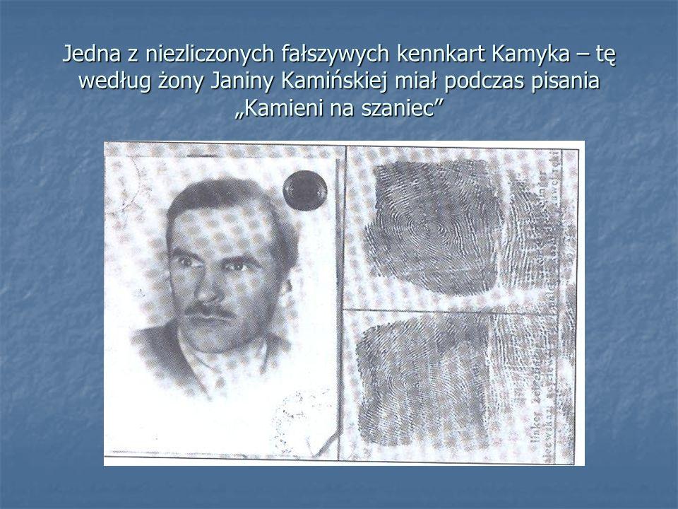 """Jedna z niezliczonych fałszywych kennkart Kamyka – tę według żony Janiny Kamińskiej miał podczas pisania """"Kamieni na szaniec"""""""