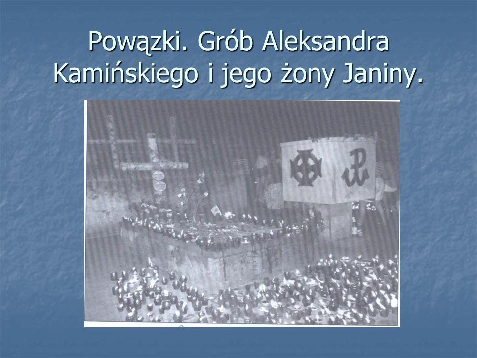 Powązki. Grób Aleksandra Kamińskiego i jego żony Janiny.