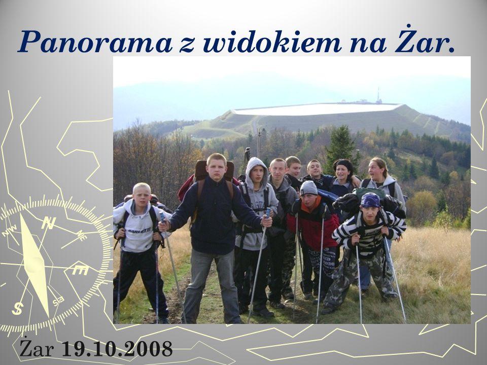 Żar 19.10.2008 Panorama z widokiem na Żar.