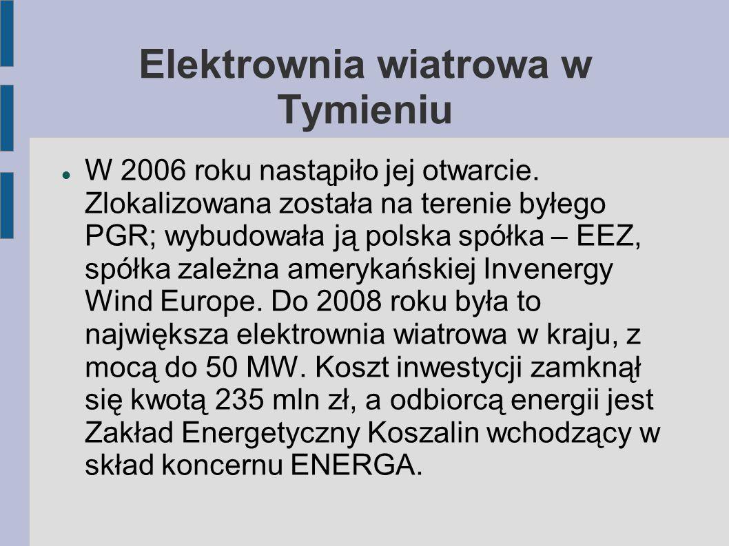 W 2006 roku nastąpiło jej otwarcie. Zlokalizowana została na terenie byłego PGR; wybudowała ją polska spółka – EEZ, spółka zależna amerykańskiej Inven