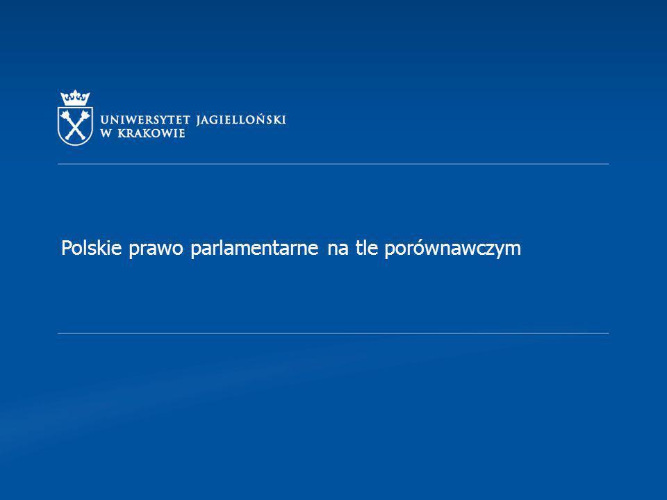 """WYBORY PARLAMENTARNE Źródła prawa wyborczego Konstytucja RP z 1997, rozdział IV """"Wybory i kadencja (art."""