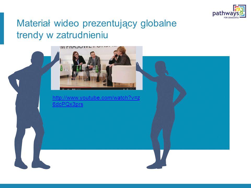 Materiał wideo prezentujący globalne trendy w zatrudnieniu http://www.youtube.com/watch?v=z 6dcPQx3prs