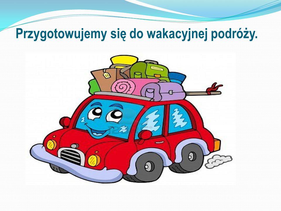 pakowanie plecaka lub walizki w zależności od miejsca, gdzie spędzimy wakacje.