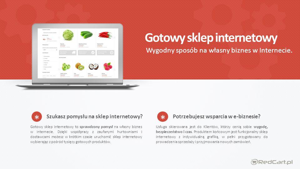 Gotowy sklep internetowy Wygodny sposób na własny biznes w Internecie.