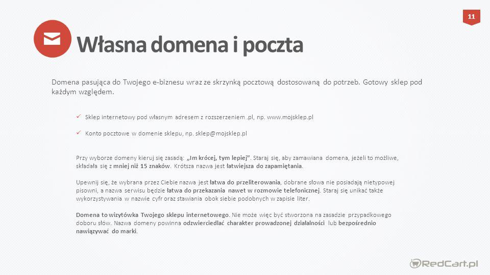 Sklep internetowy pod własnym adresem z rozszerzeniem.pl, np.