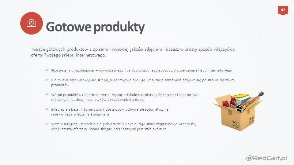 Nowoczesna grafika sklepu w pakiecie PREMIUM zaprojektowania z uwzględnieniem najnowszych trendów na rynku e-commerce Wersja RWD sklepu pozwalająca na dotarcie do nowej grupy Klientów, którzy dokonują zakupów z wykorzystaniem urządzeń mobilnych Indywidualny logotyp (znak firmowy), który stanie się rozpoznawalnym elementem wyróżniających Twoją nową markę Szablon wiadomości e-mail (newsletter) przygotowany w spójnej kreacji z wyglądem sklepu internetowego Zestaw elementów graficznych, które powinny znaleźć się w Twoim sklepie internetowym (baner reklamowy, widget kontaktowy) Dedykowana grafika sklepu Przyciągnij Klientów indywidualną szatą graficzną wykonaną specjalnie dla Ciebie.