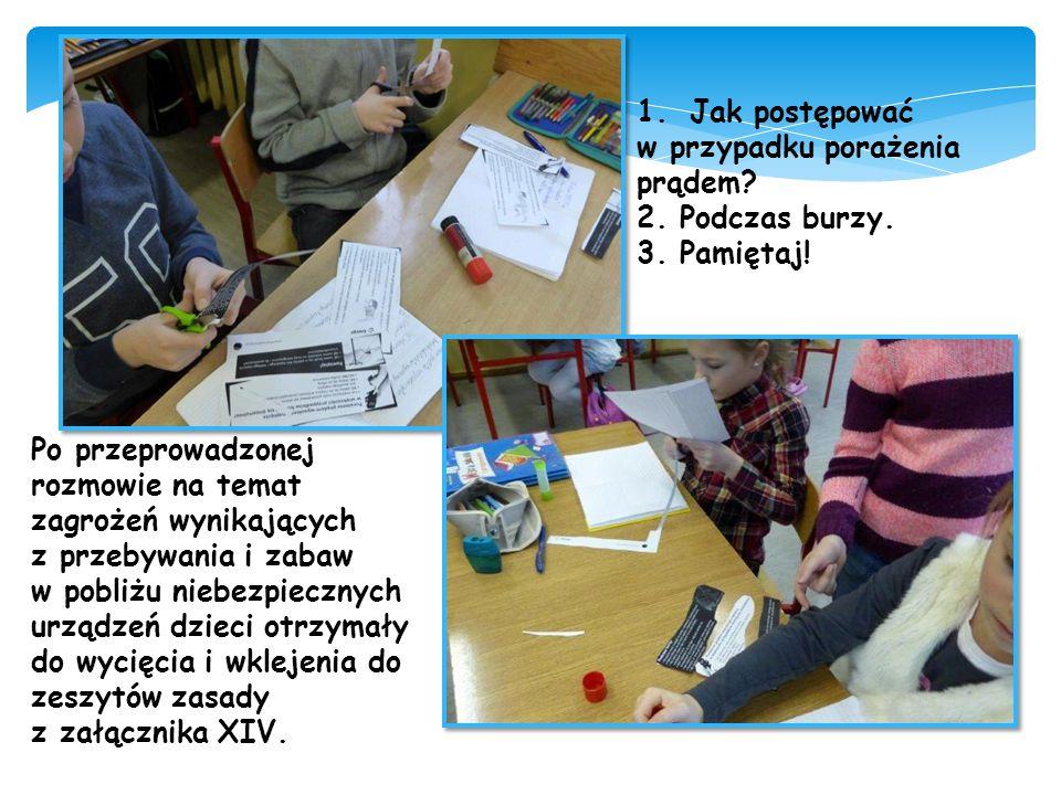 http://prezi.com/vz3h2zkl_ixi/?utm_campaign=share&utm_medium=copy Dzięki przygotowanej prezitacji dzieci mogły dokładnie poznać zasady zachowania się w czasie burzy w różnych miejscach.