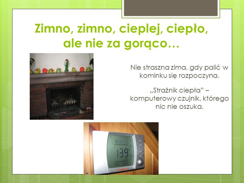 Zimno, zimno, cieplej, ciepło, ale nie za gorąco… Nie straszna zima, gdy palić w kominku się rozpoczyna.