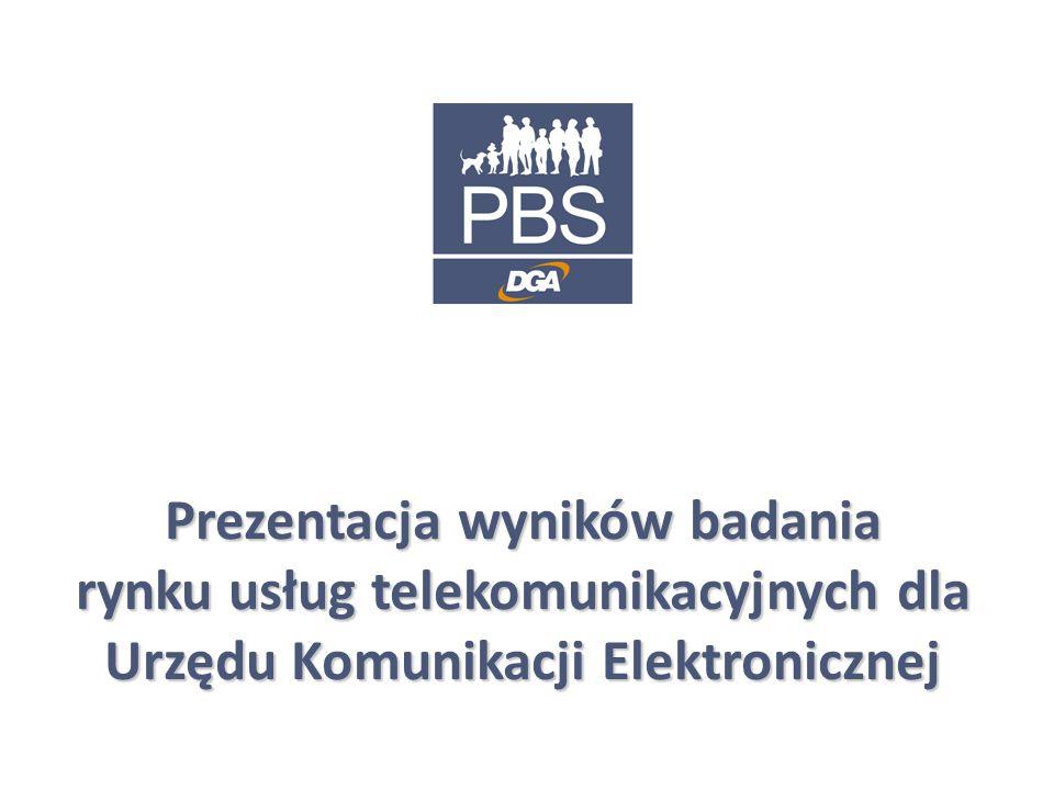 1 Prezentacja wyników badania rynku usług telekomunikacyjnych dla Urzędu Komunikacji Elektronicznej