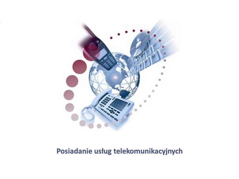 5 Posiadanie usług telekomunikacyjnych