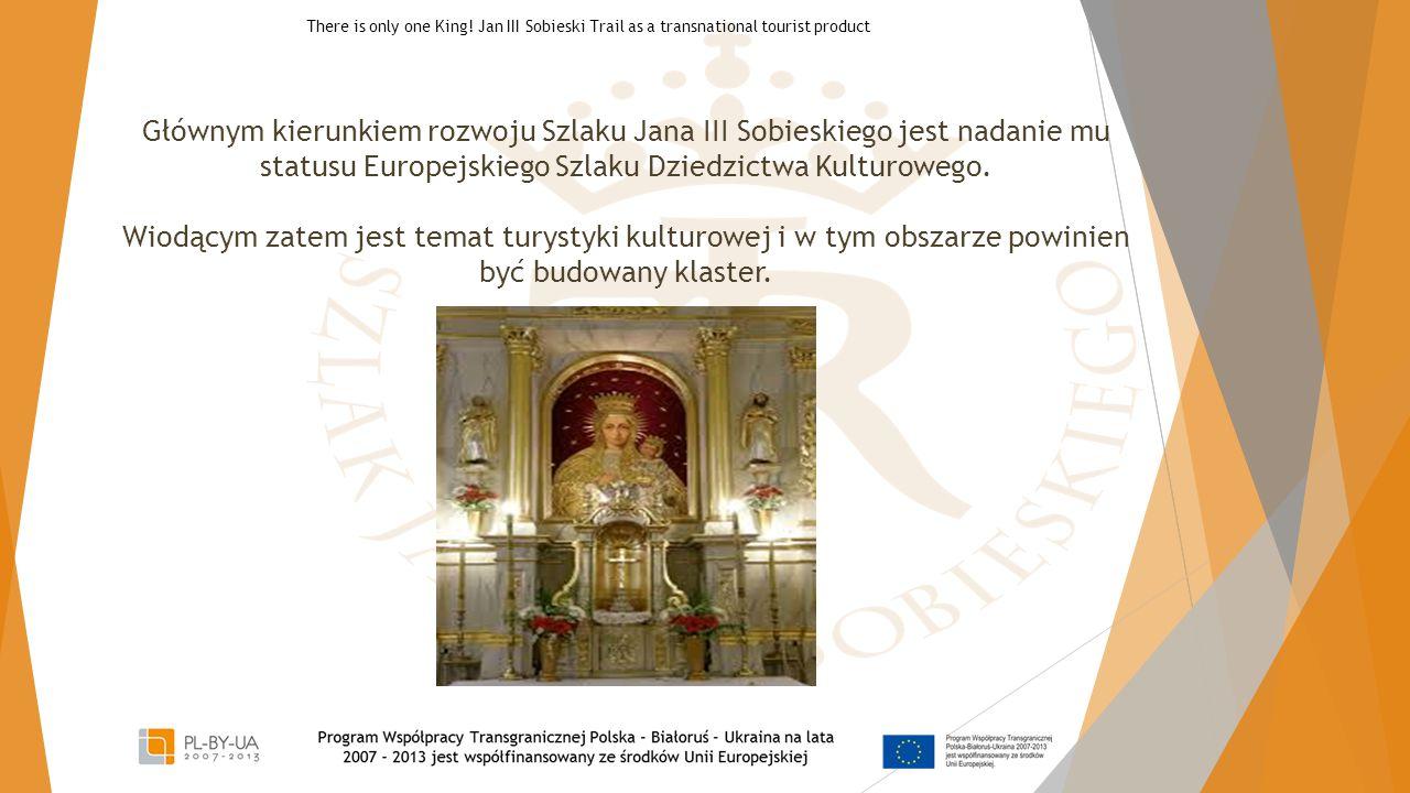 Głównym kierunkiem rozwoju Szlaku Jana III Sobieskiego jest nadanie mu statusu Europejskiego Szlaku Dziedzictwa Kulturowego. Wiodącym zatem jest temat