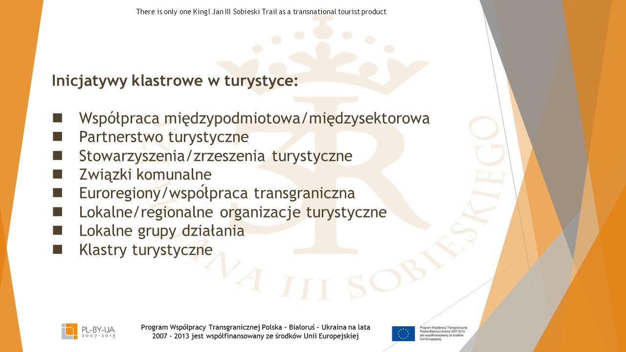 Inicjatywy klastrowe w turystyce:  Współpraca międzypodmiotowa/międzysektorowa  Partnerstwo turystyczne  Stowarzyszenia/zrzeszenia turystyczne  Zw