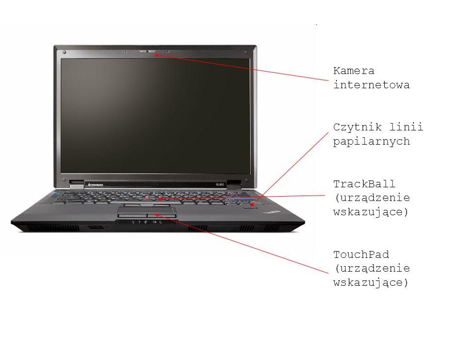 Kamera internetowa Czytnik linii papilarnych TrackBall (urządzenie wskazujące) TouchPad (urządzenie wskazujące)