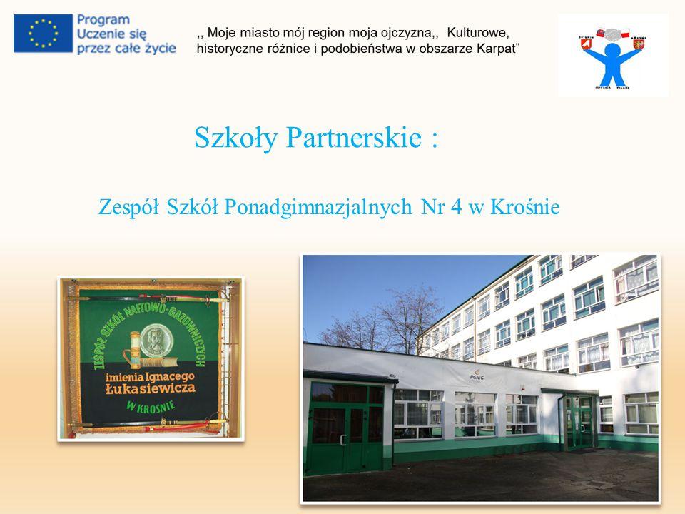 Szkoły Partnerskie : Zespół Szkół Ponadgimnazjalnych Nr 4 w Krośnie