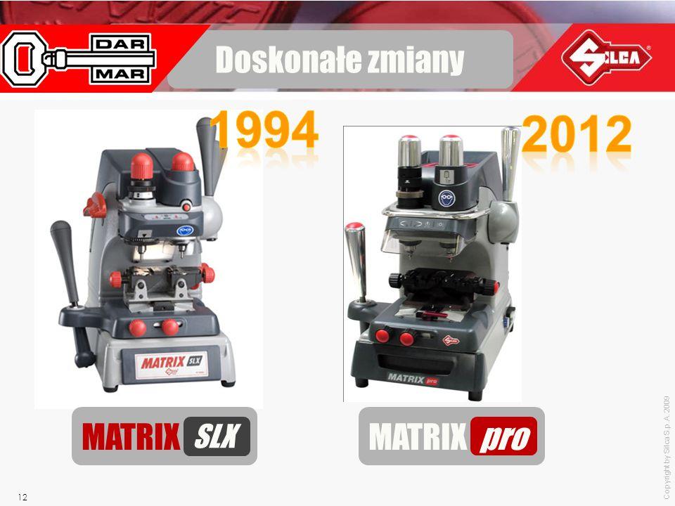 Copyright by Silca S.p.A. 2009 12 Doskonałe zmiany MATRIX pro MATRIX SLX