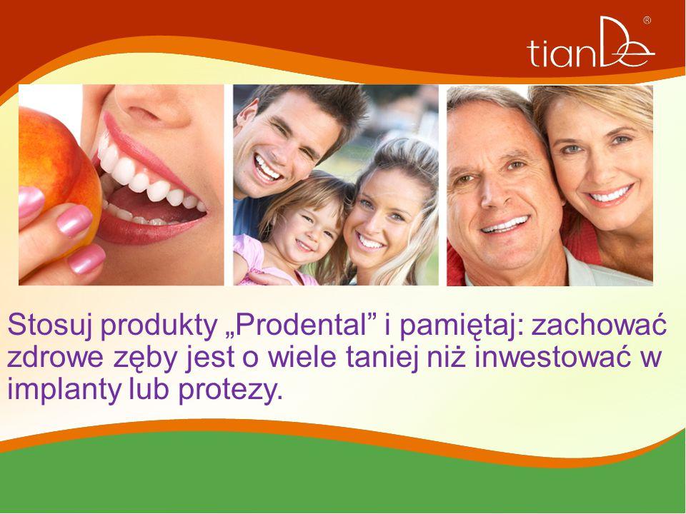 """Stosuj produkty """"Prodental"""" i pamiętaj: zachować zdrowe zęby jest o wiele taniej niż inwestować w implanty lub protezy."""