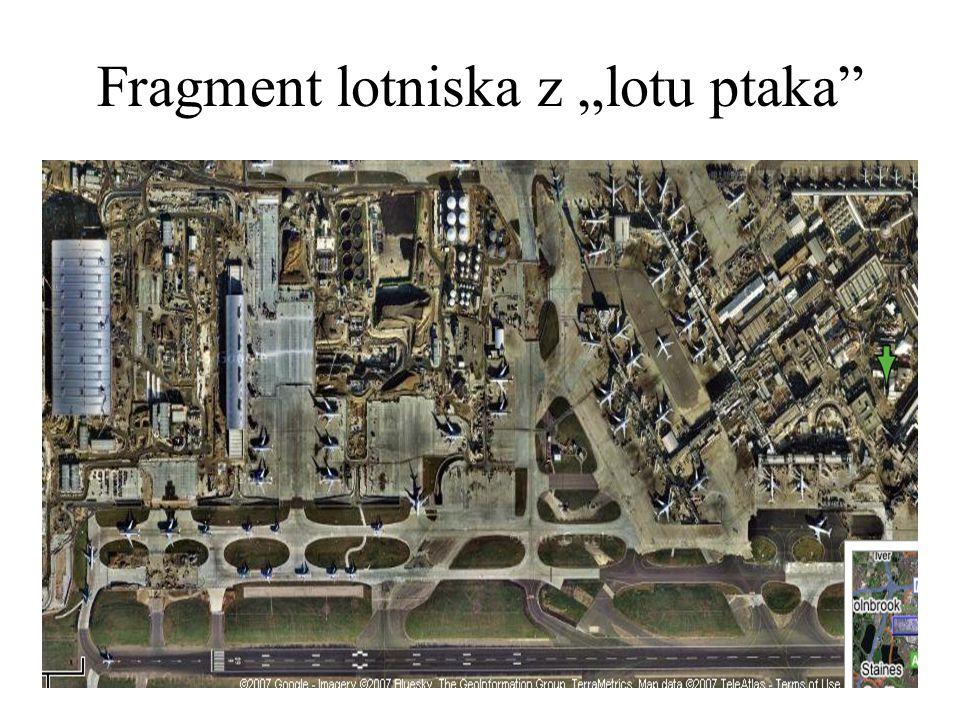 "Fragment lotniska z ""lotu ptaka"""