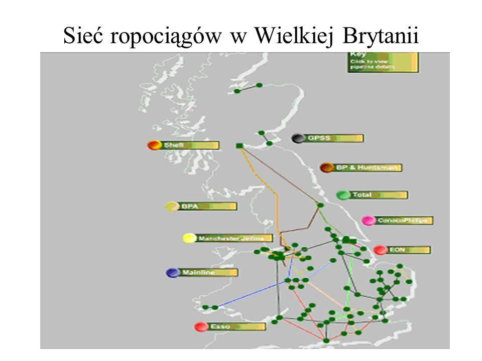 Sieć ropociągów w Wielkiej Brytanii
