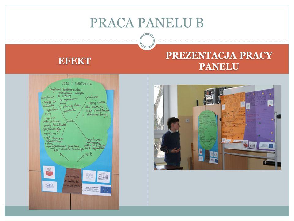 EFEKT PREZENTACJA PRACY PANELU PRACA PANELU B