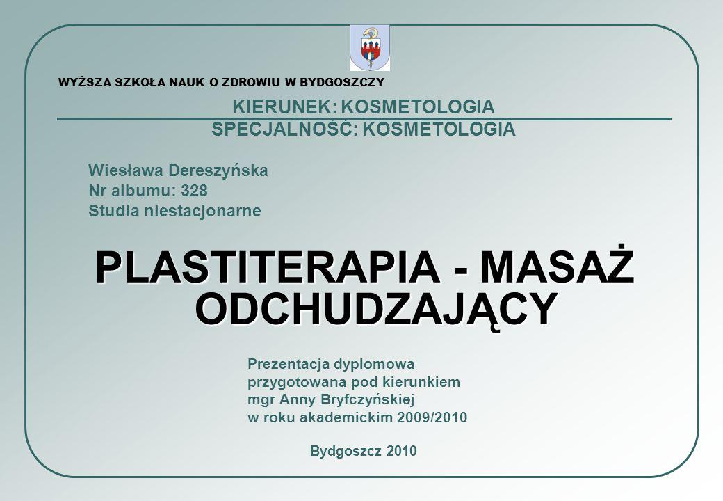 2 I Wstęp3 I Cele Plastiterapii 4 II Główne przyczyny nadwagi5 III Nadwaga a zdrowie7 IV Wskazania do Plastiterapii8 V Przebieg Plastiterapii9 5.1.