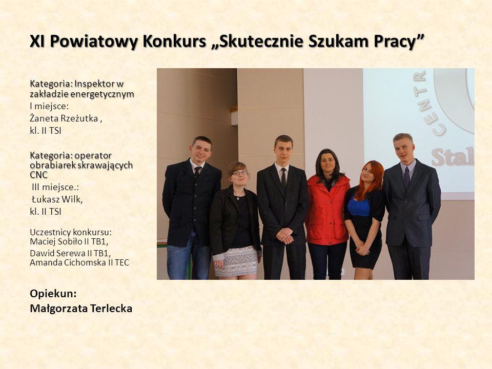 V Konkurs Wiedzy o Funduszach Europejskich Uczestnicy: Łukasz Wilk, II TSI Opiekun: Małgorzata Terlecka