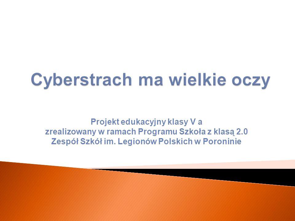 Cyberstrach ma wielkie oczy Okres realizacji projektu: marzec - kwiecień 2014 r.