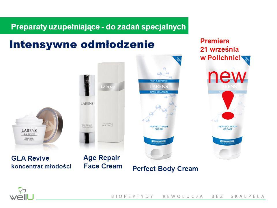 Age Repair Face Cream Intensywne odmłodzenie GLA Revive koncentrat młodości Perfect Body Cream Preparaty uzupełniające - do zadań specjalnych Premiera 21 września w Polichnie!