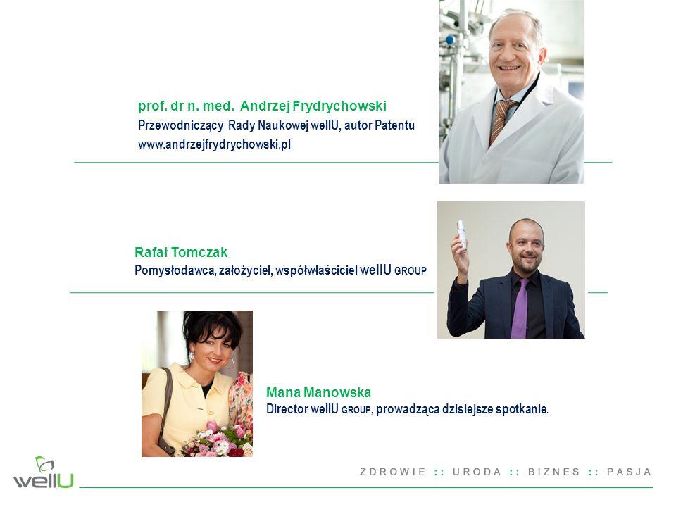Rafał Tomczak Pomysłodawca, założyciel, współwłaściciel wellU GROUP prof.