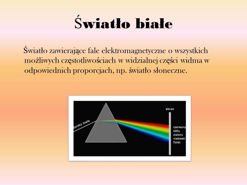 Ś wiat ł o RGB Jeden z modeli przestrzeni barw, opisywanej wspó ł rz ę dnymi RGB.