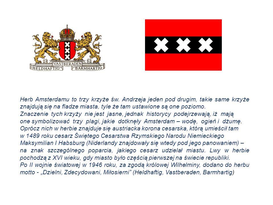 Herb Amsterdamu to trzy krzyże św.