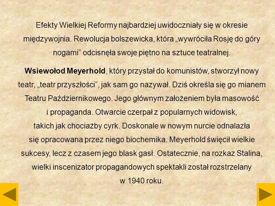 """Efekty Wielkiej Reformy najbardziej uwidoczniały się w okresie międzywojnia. Rewolucja bolszewicka, która """"wywróciła Rosję do góry nogami"""" odcisnęła s"""