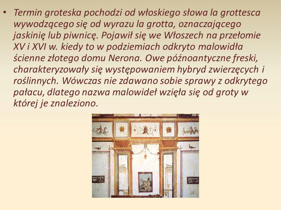 Groteska w literaturze dwudziestolecia międzywojennego Groteska była jedną z częstszych obok paraboli, metod przedstawiania rzeczywistości w literaturze dwudziestolecia.