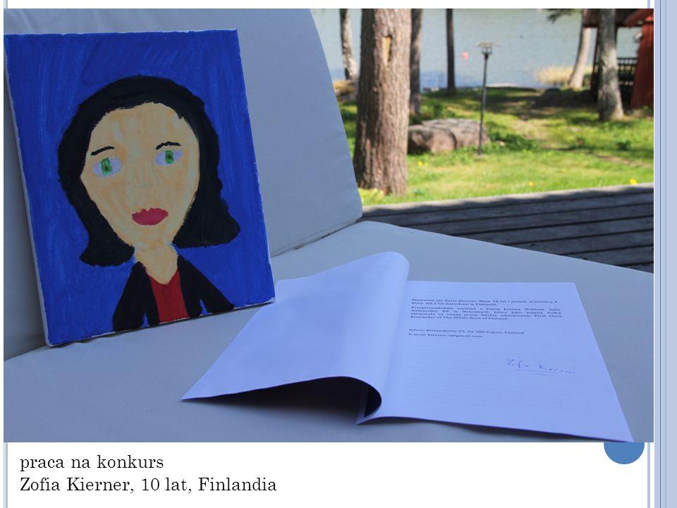 praca na konkurs Zofia Kierner, 10 lat, Finlandia