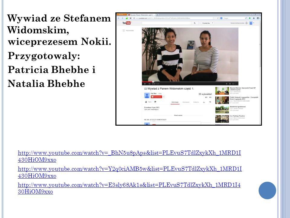 Wywiad ze Stefanem Widomskim, wiceprezesem Nokii.