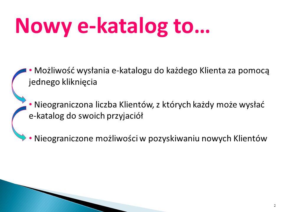 3 Nowy e-katalog to… Możliwość wysłania e-katalogu do Klienta za pomocą jednego kliknięcia – ETAP 1 DODANIE Klienta