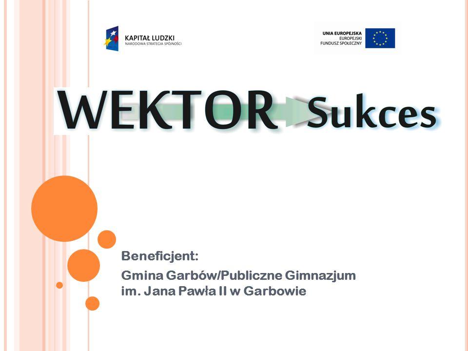 Beneficjent: Gmina Garbów/Publiczne Gimnazjum im. Jana Paw ł a II w Garbowie