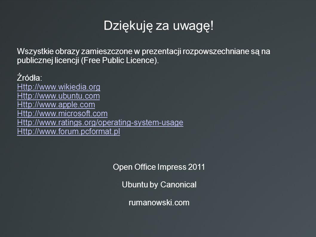 Dziękuję za uwagę! Wszystkie obrazy zamieszczone w prezentacji rozpowszechniane są na publicznej licencji (Free Public Licence). Źródła: Http://www.wi