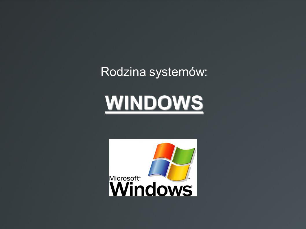Rodzina systemów: WINDOWS