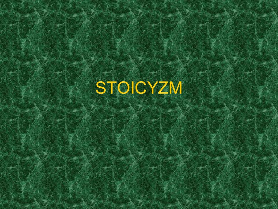 Stoicyzm kierunek filozoficzny zapoczątkowany w III wieku przed n.e.