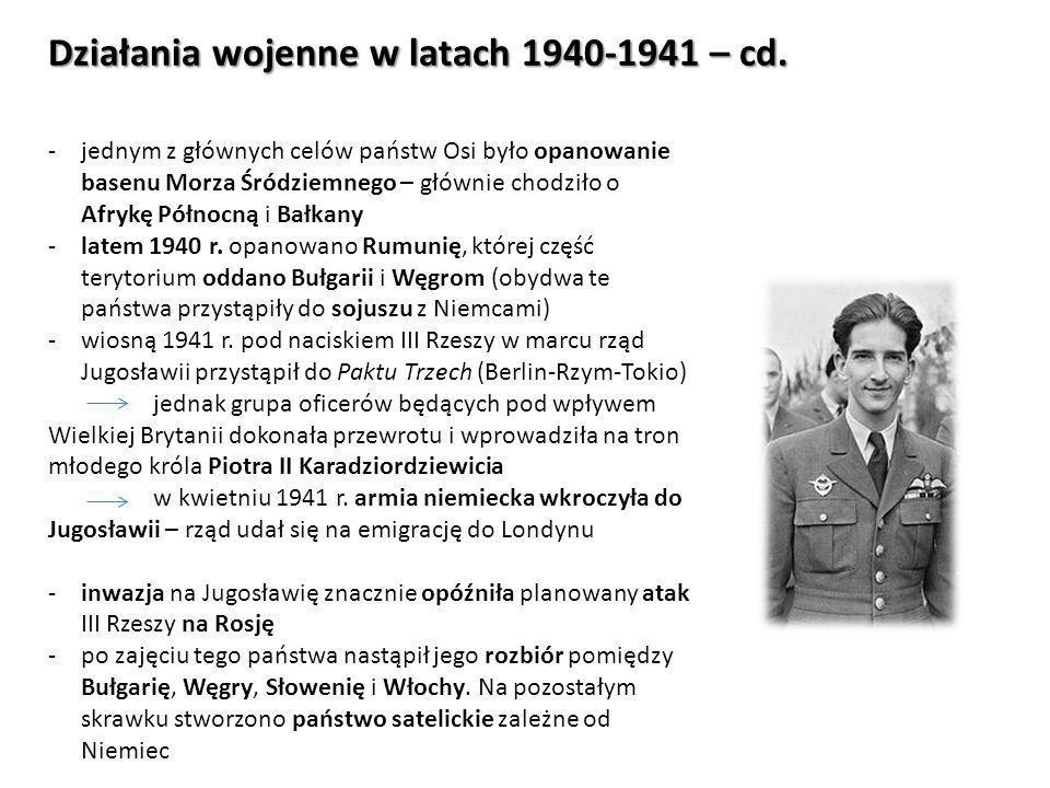 Działania wojenne w latach 1940-1941 – cd.-kwiecień 1941 r.
